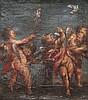 Ecole italienne du XVIIème siecle Quatre putti jouant. Huile sur toile.