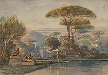 Louis Amable CRAPELET (1822-1867) (1822-1867)  La villa Pamphili à Rome.