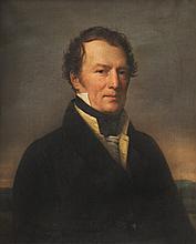Michel Martin DROLLING (Paris 1786 - 1851) Portrait d'homme au veston jaune. Toile.