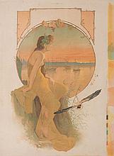 TRAVAIL VERS 1900   Fines Monis.   Affiche lithrographique.