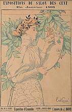 EMIL CAUSÉ (1867-)   Salon des Cent.   Affiche lithographique polychrome.