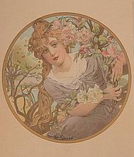 GASTON GÉRARD (1859-?)   Bouton d'or, Roses, Nénuphars et Tulipes.   Ensemble de quatre affiches.