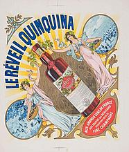 TRAVAIL VERS 1900   Le réveil quinquina.   Affiche lithographique.