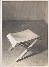 JEAN COLLAS  Tabouret de Paul Rodocanachi pour Jean-Michel Frank. Circa 1935.