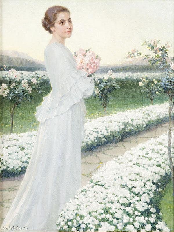 Elisabeth SONREL (1874-1951)Soirée de mai.Huile sur toile.Signée en bas à gauche.93 x 73 cm.Exposition : Paris, Salon de 1936, illustrésous le numéro 2206.