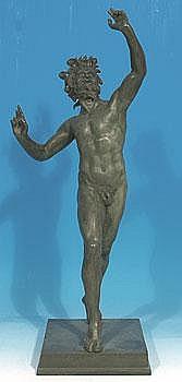Amadio, Metello (geb.1884) Tanzender Faun. Bronze,