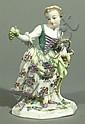 Skulptur Mädchen mit Trauben