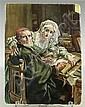 Schubert, Karl Bildplatte. Polychrome Bemalung
