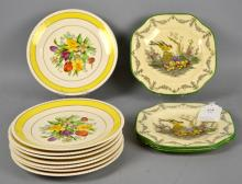 (12) PLATES - to include (8) ambassador ware floral decorated and (4) titanware plates - Condition: Age appropriate wear; All items sold as is.