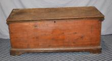 EARLY PINE BLANKET CHEST - Measures:  22''H x 52''W x 23.5''D - Condition: Age appropriate Wear; All items sold as is.