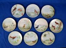 (10) HANDPAINTED PLATES OF BIRDS FROM OHIO- Condition: Age appropriate wear; All items sold as is.