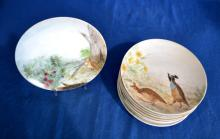 (10) HANDPAINTED PLATES OF BIRDS FROM ALABAMA - Condition: Age appropriate wear; All items sold as is.