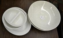 (5) ASSORTED CHINA SERVING PIECES - Includes (1) Zrike signed platter, (1) serving bowl, (2) Gaetano Bowls (1 poorly crazed) and (1) vegetable bowl - Condition: Age appropriate wear; All items sold as is.