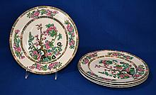 FOUR (4) MADDOCK ''INDIAN TREE'' PATTERN PLATES   Four indian tree pattern plates.  9'' diam. Mark John Maddock & Sons. Royal Vitreous England.  Condition age appropriate wear.