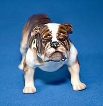 ROYAL DOULTON BULLDOG   Mark, HN-1047. Size, 5''x3''. Condition, age appropriate wear. All items are sold as is.