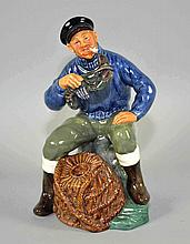 ROYAL DOULTON FIGURINE  ''Lobster Man'' 1963. Size, 4''L. 7 1/2''H. Condition, age appropriate wear. All items are sold as is.