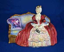ROYAL DOULTON FIGURINE ''DELLE O'THE BALL''  Copyright 1997. Mark, HN1946  Size, 5 3/4''H.  Condition, age appropriate wear. All items sold as is.
