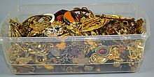 GOLDTONE COSTUME JEWELRY  To include, Chains, Necklaces, Pins, Pendants, and more.  Condition, age appropriate wear. All items are sold as is.