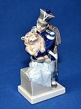 ROYAL COPENHAGEN SOLDIER AND DOG FIGURINE  Size, 7 1/2''x3''. Condition, age appropriate wear. All items are sold as is.