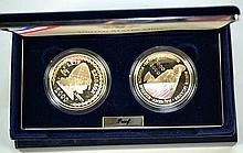 2000 LEIF ERICSON MILLENIUM COMMEMORATIVE COIN SET - US & Icelandic Proof Silver two-coin set with original fitted box and COA. All items sold as is.