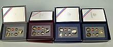 (4) FOUR U.S. COMMEMORATIVE PRESTIGE COIN SETS To Include: 1991: Mt Rushmore Anniversary Coins Prestige Set; 1992 U.S. Olympic Coins Prestige Set: 1993 Bill of Rights Commemorative Coins Prestige Set; 1994 World Cup USA Commemorative Coins Prestige