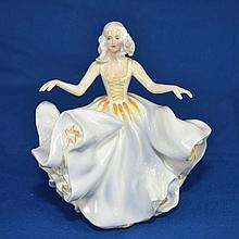 ROYAL DOULTON FIGURINE ''SWEET SEVENTEEN''  Mark, HN2734  Size, 7 1/4''H. Condition, age appropriate wear. All items are sold as is.