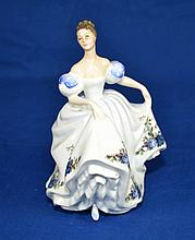 ROYAL DOULTON FIGURINE ''BEATRICE''  Copyright 1989. Mark, HN3263  Size, 7 1/2''H. Condition, age appropriate wear. All items are sold as is.