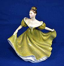 ROYAL DOULTON FIGURINE ''LYNNE''  Copyright 1970  Mark, HN2329  Size, 7 1/2''H. Condition, age appropriate wear. All items are sold as is.