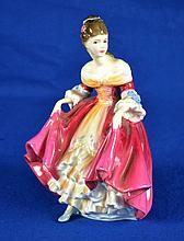 ROYAL DOULTON FIGURINE ''SOUTHERN BELL''  Copyright 1957.  Mark, HN2229. Size, 8''H. Condition, age appropriate wear. All items are sold as is.
