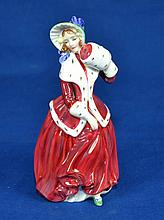 ROYAL DOULTON FIGURINE ''CHRISTMAS MORN''  Copyright 1946  Mark, HN1992  Size, 7 1/4''H. Condition, age appropriate wear. All items are sold as is.