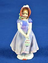 ROYAL DOULTON FIGURINE ''IVY''   Mark, HN 1768  Size, 5''H. Condition, age appropriate wear. All items are sold as is.