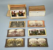MISC. STEREOGRAPH CARD LOT  Originals and reproductions, 150 cards. Condition, age appropriate wear. All items are sold as is.