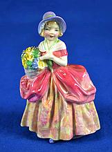 ROYAL DOULTON FIGURINE ''CISSIE''  Mark, HN1809  Size, 5''H. Condition, age appropriate wear. All items are sold as is.