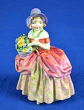 ROYAL DOULTON FIGURINE ''CISSIE''  Mark, HN1809.RL   Size, 5''H.  Condition, age appropriate wear. All items are sold as is.