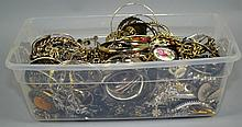 SILVERTONE COSTUME JEWELRY  Lot includes, Bangles, Cuffs, Chains, Pendants and more.  Condition, age appropriate wear. All items are sold as is.