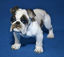 ROSENTHAL FINE CHINA BULLDOG  Measures 6''x4''. Condition, age appropriate wear. All items are sold as is.