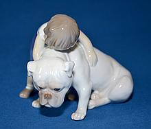 BING AND GRONDAHL  ''Two Friends'' #1970. 5''x4 1/2''. Condition, age appropriate wear. All items are sold as is.