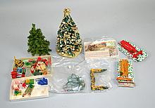 DOGHOUSE CHRISTMAS DECORATIONS Christmas Tree, Wrapped Presents and more. Condition, age appropriate wear. All items sold as is.