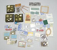 DOLLHOUSE ACCESSORIES Tea Service, Pictures, Table Linens and more. Condition, age appropriate wear. All items sold as is.