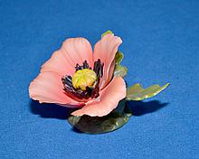 VINTAGE CAPODIMONTE NAPOLEON KAISER - porcelain flower 3 1/2'' x 2 1/2''; marked Napoleon & Kaiser on bottom, salmon colored - Condition: Very good. Age appropriate wear, all items sold as is.