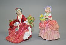 (2) ROYAL DOULTON FIGURINES - (1) HN1908 ''LYDIA'' ; (1) HN1809 ''CISSIE'' - Condition: Age appropriate wear, all items sold as is.