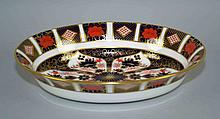 ROYAL CROWN DERBY IMARI VEGETABLE BOWL #1128 -  Iron Red, Cobalt Blue, and 22 Carat Gold. 10 1/4''diam. Condition, age appropriate wear. All items are sold as is.