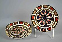 (8) EIGHT ROYAL CROWN DERBY IMARI SOUP BOWLS #1128 XLIX - 6 1/2''diam. Iron Red, Cobalt Blue, and 22 Carat Gold. Condition, age appropriate wear. All items are sold as is.