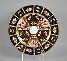 ROYAL CROWN DERBY IMARI PLATE #2451 - 10 1/2''diam. Iron Red, Cobalt Blue, and 22 Carat Gold. Condition, age appropriate wear. All items are sold as is.