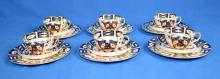 18pcs ROYAL CROWN DERBY IMARI #2451 - includes (6) Bread & butter plates, (6) cups and (6) saucers - Condition: Excellent condition; Age appropriate wear; All items sold as is.