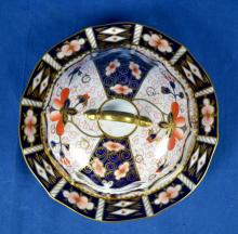 ROYAL CROWN DERBY COVERED DISH #2451 - Measures 4.75''H x 8.75''W - Condition: Excellent Condition; Age appropriate wear; All items sold as is.