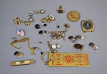 MISC. CUFF LINKS, TIE BARS AND OTHER LOT 20+ PIECES  All jewelry sold as is.