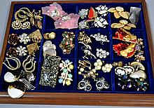 LOT OF EARRINGS 35 PAIRS  Condition, age appropriate wear. All jewelry sold as is.