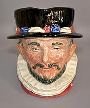 ROYAL DOULTON BEEFEATER MUG  Royal Doulton Porcelain ''Beefeater'' Mug.  6 1/2''H.  Mark, Royal Doulton Beefeater cop.1946  Condition, age appropriate wear.