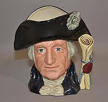 ROYAL DOULTON GEORGE WASHINGTON MUG   Mug first issued in 1982 to celebrate the 250th. anniversary of his birth.  7''H. Mark, Royal Doulton. Condition, age appropriate wear.